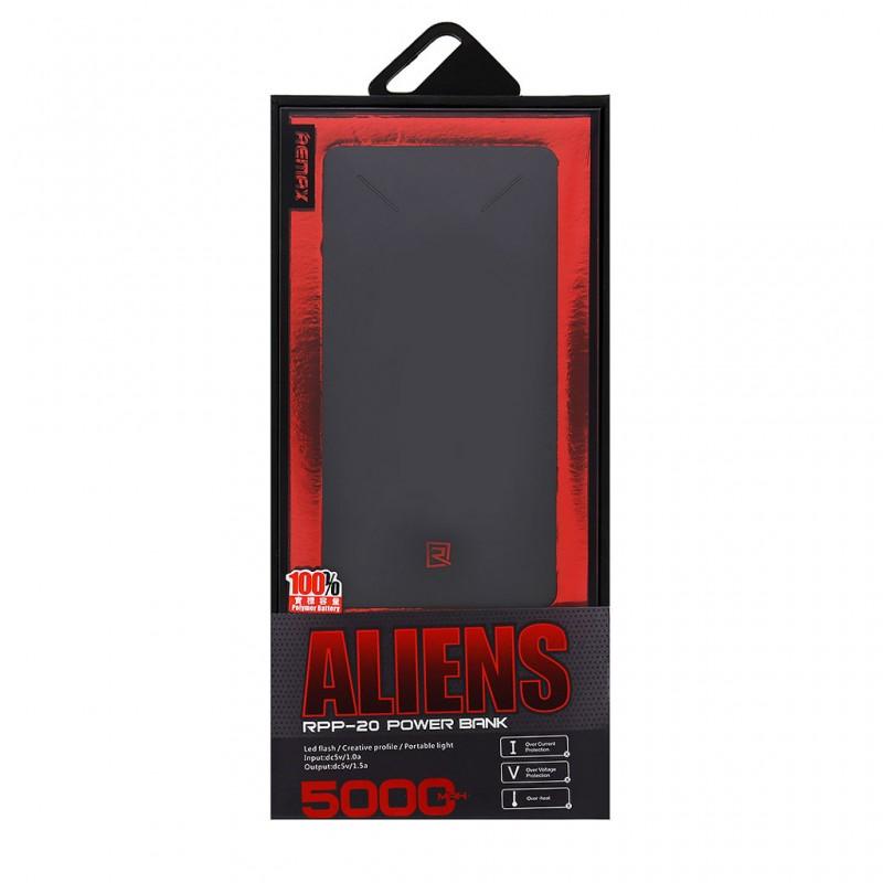 Back up baterija REMAX Aliens/RPP20 5000mAh crna
