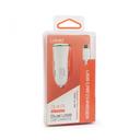 Auto punjac LDNIO DL-C28 dual USB 3.4A sa micro USB kablom beli
