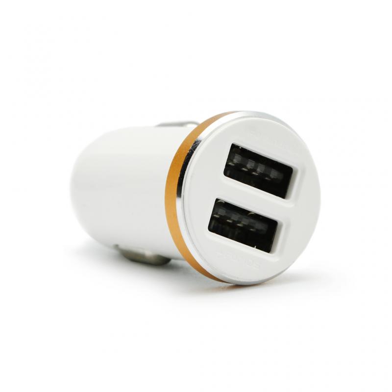 Auto punjac LDNIO DL-C22 dual USB 2.1A beli