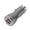 Auto punjac LDNIO C407Q Quick Charge 3.0 2xUSB 3.6V 3.0A sa type C kablom crni