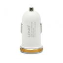 Auto punjac LDNIO DL-C22 dual USB 2.1A sa type C kablom beli
