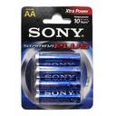Alkaline battery Stamina Plus 1.5V AA LR6 4/1 blister SONY