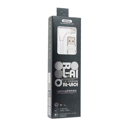 Adapter iPhone 7 REMAX RL-LA01 handsfree / USB white