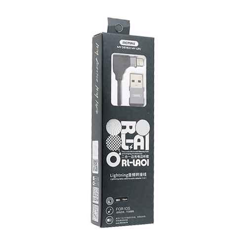 Adapter iPhone 7 REMAX RL-LA01 handsfree / USB black