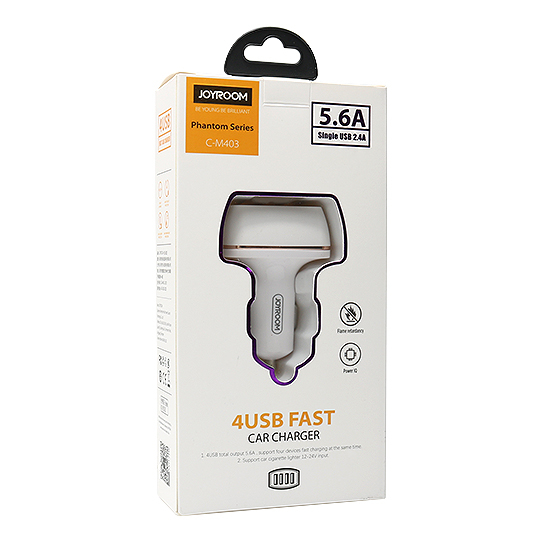 Car charger C-M403 5.4A 4xUSB white JOYROOM