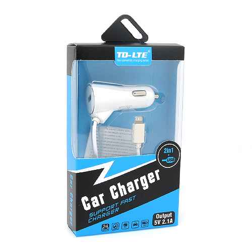 Car charger Comicell TD-C37 2.1A for Iphone lightning white