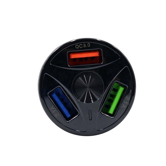 Car charger Comicell TD-FC80 3xUSB 5V / 7A FAST QC 3.0 Type C black
