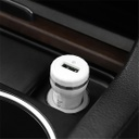 Car charger HOCO Z27 2XUSB 5V / 2.4A white-silver