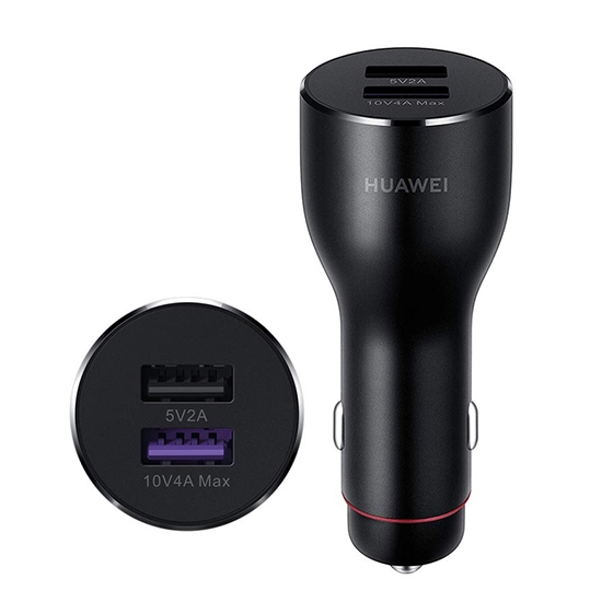 Car charger Huawei CP37 SUPER FAST 2xUSB 10V / 4A Type C dark gray FULL ORG