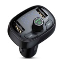 Car charger and FM modulator BASEUS T typed Bluetooth black