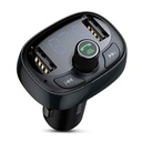 Car charger and FM modulator BASEUS T typed Bluetooth dark gray