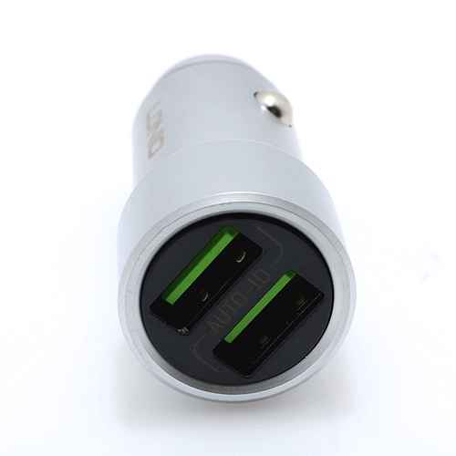 Car charger LDNIO C302 2xUSB 5V / 3.6A Type C silver