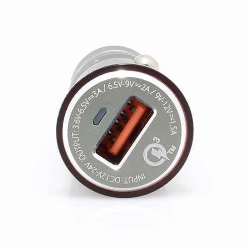 Car charger LDNIO C304Q USB 5V / 3A FAST QC 3.0 microUSB burgundy