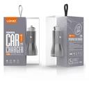 Car charger LDNIO C407Q 2xUSB 5V / 3A FAST QC 3.0 microUSB gray