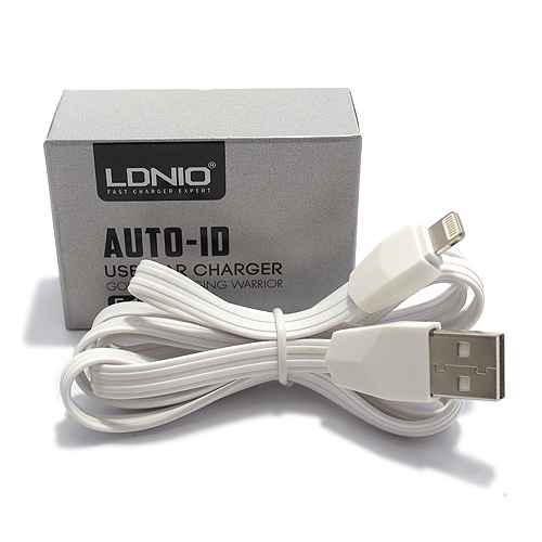 Car charger LDNIO C501 3xUSB 5V / 5.1A for Iphone lightning white-pink