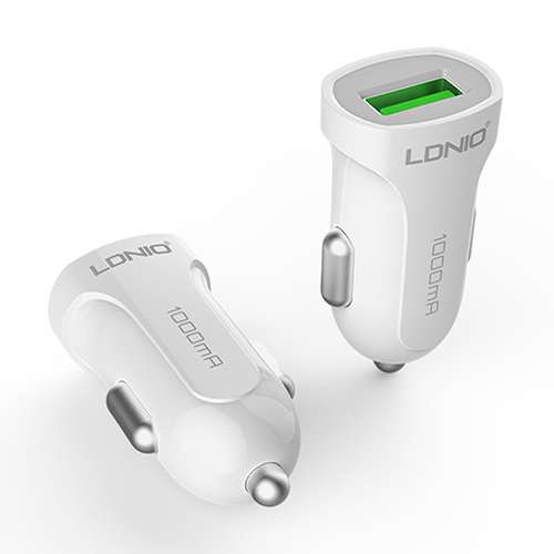 Car charger LDNIO DL-C17 USB 5V / 1A Type C white