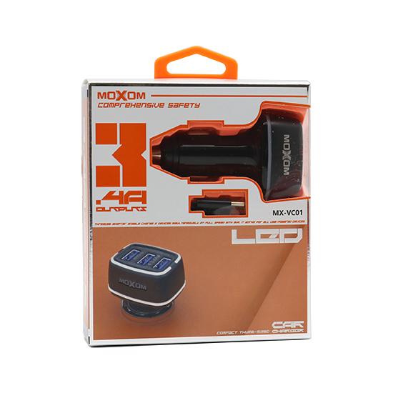 Car charger Moxom MX-VC01 3xUSB 5V / 3.4A for Iphone lightning black