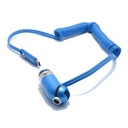 Car charger REMAX Cutie RCC-211 USB / 2.4A 3in1 for Iphone lightning / micro / Type C USB blue