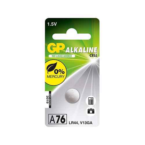 Alkaline battery 1.5V 110mAh button A76-C10 / LR44 GP