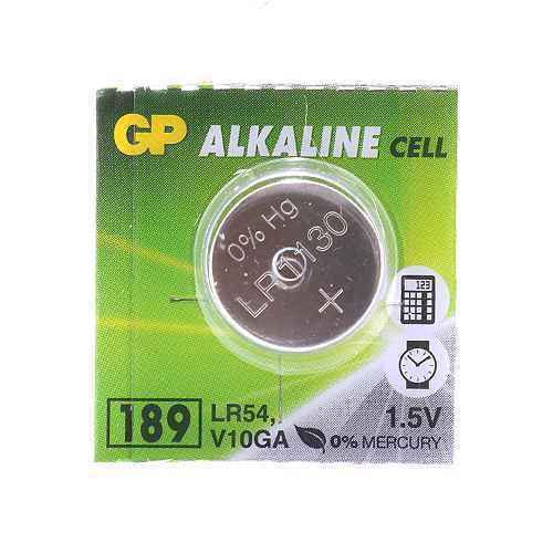 Alkaline battery 1.5V 44mAh button A189-C10 / LR54 GP