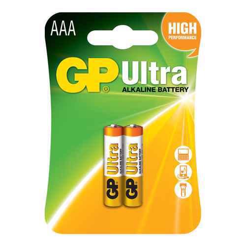 Alkaline battery Ultra 1.5V AAA 24AU-U2 / LR03 2/1 blister GP