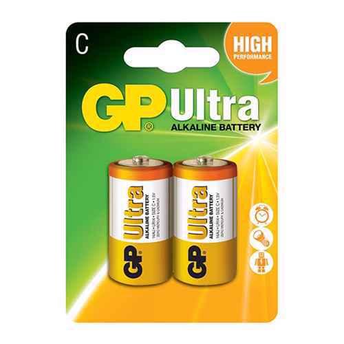 Alkaline battery Ultra 1.5V C 14AU-U2 / LR14 2/1 blister GP