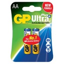 Alkaline battery Ultra Plus 1.5V AA 15AUP-U2 / LR6 2/1 blister GP
