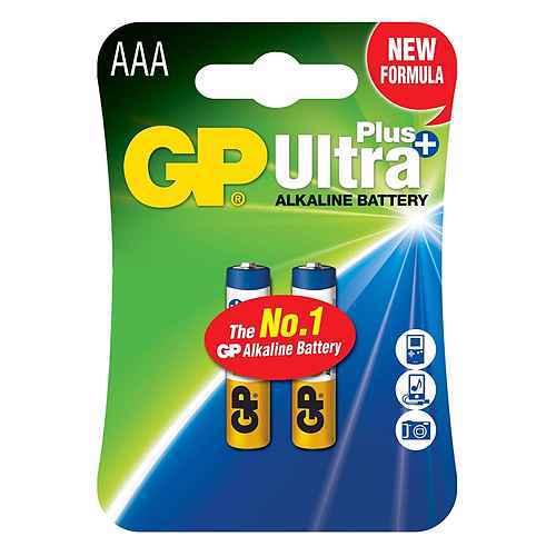 Alkaline battery Ultra Plus 1.5V AAA 24AUP-U2 / LR03 2/1 blister GP
