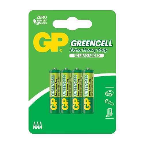 Battery zinc carbon GreenCell 1.5V AAA 24G-U4 / R03 4/1 blister GP