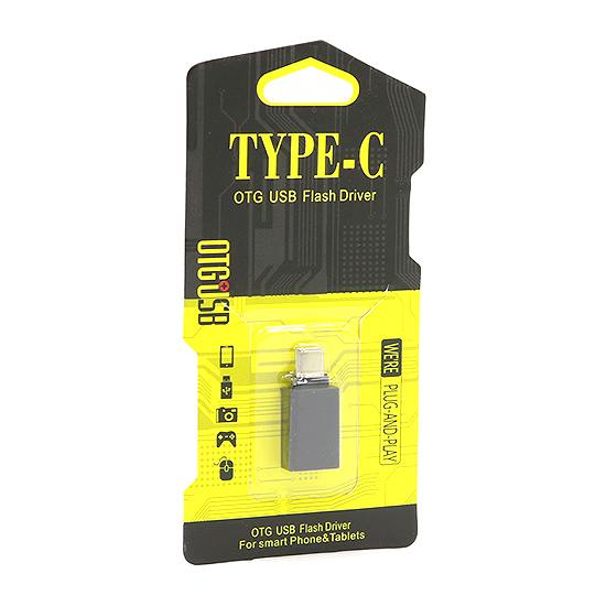 Adapter OTG Type C USB metal black