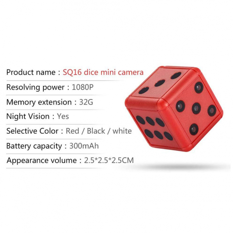 Action Camera SQ16 red
