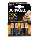 Alkaline battery 1.5V AA LR6 blister 4/1 Duracell