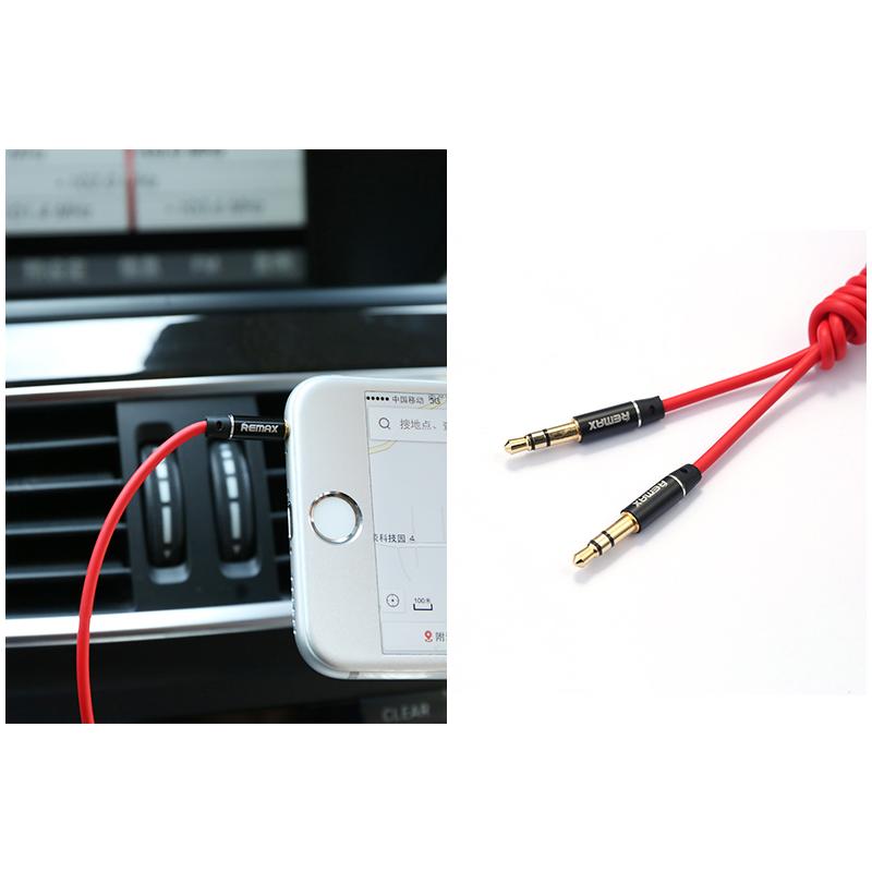 Audio kabl Remax RL-L100 Aux 3.5mm crveni 1m