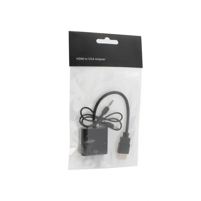 HDMI-VGA (with Audio) adapter black JWD-HDMI8
