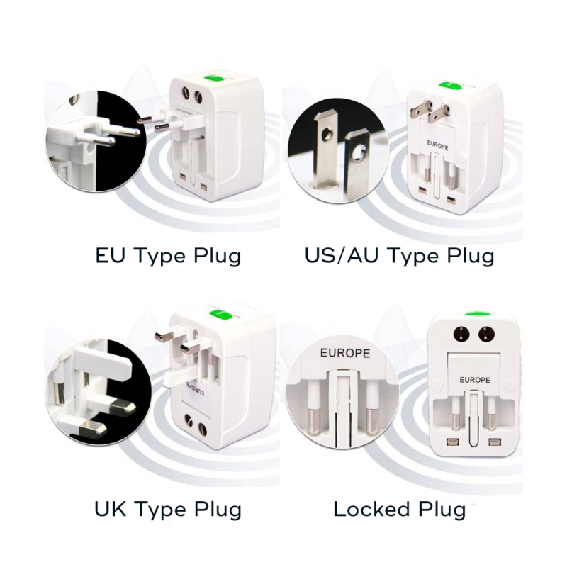Adapter EU to UK to USA to China (ALL in 1)