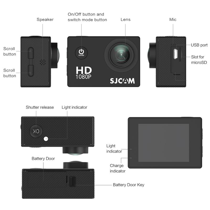 Action camera SJCAM SJ4000 black