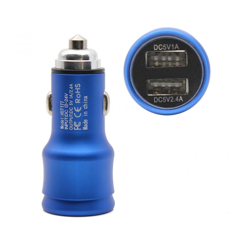 Auto punjač Hisoonton HST-177 dual USB 2.4A plavi