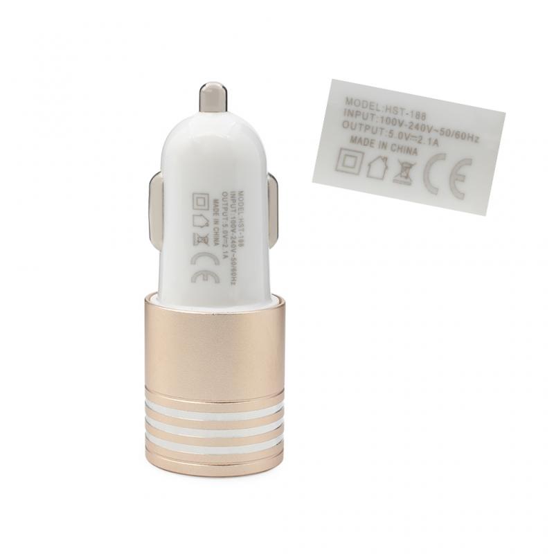 Auto punjač Hisoonton HST-188 dual USB 2.4A beli
