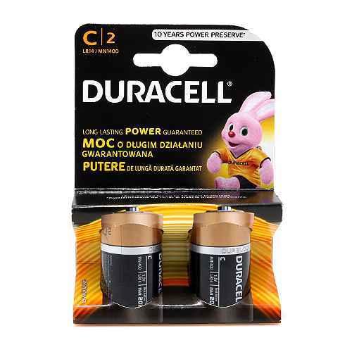 Baterija alkalna 1.5V C LR14 blister 2/1 Duracell