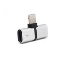 Adapter za slušalice i punjenje iPhone srebrni