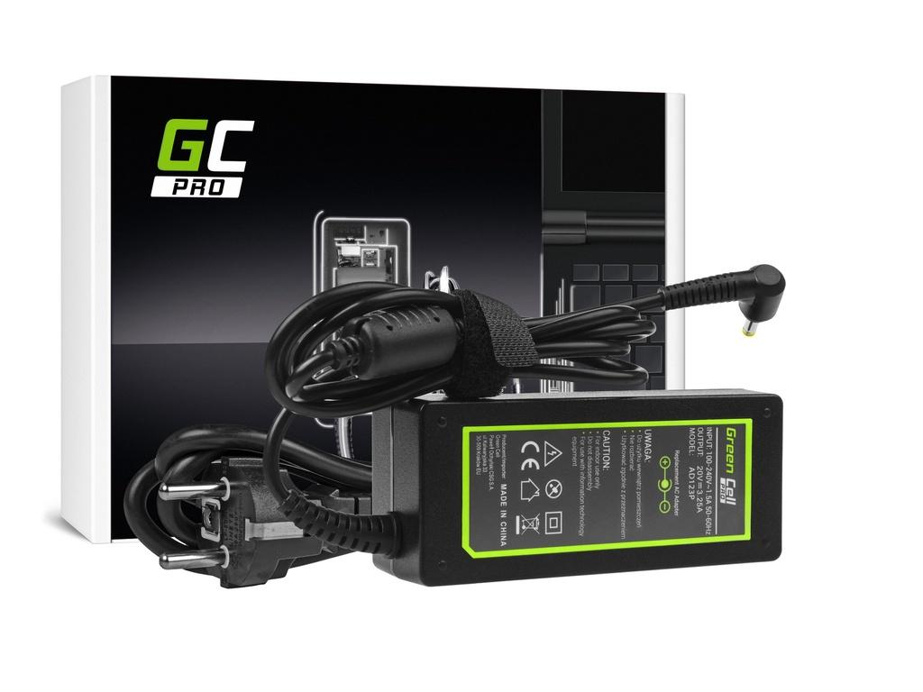 AC adapter za punjač Green Cell PRO za Lenovo 65V / 20V 3.25A / 4.0mm-1.7mm