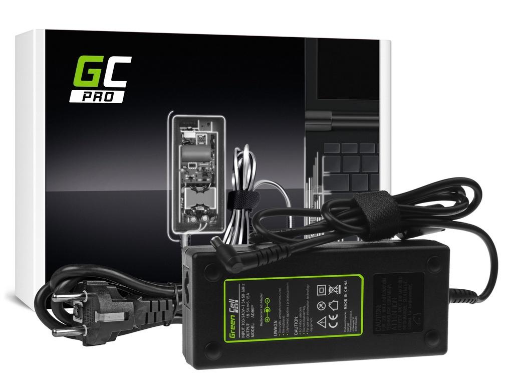AC adapter za punjač Green Cell PRO za Soni Vaio PCG-81112M VGN-AR61S VGN-AR71S VGN-AV31S VPCF11S1E 19,5V 6,15A 120V