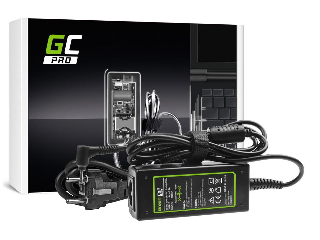 AC adapter za punjač Green Cell PRO za Asus Eee PC 1001PKS 1001PKSD 1005HA 1201HA 1201N 1215B 1215N Ks101 Ks101CH Ks101H 19V 2.1A 40