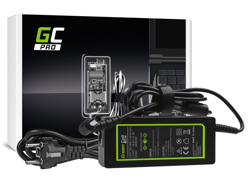 AC adapter za punjač Green Cell PRO za Soni Vaio SVF14 SVF15 SVF152A29M SVF1521C6EV SVF15AA1KM 19.5V 3.34A 65V