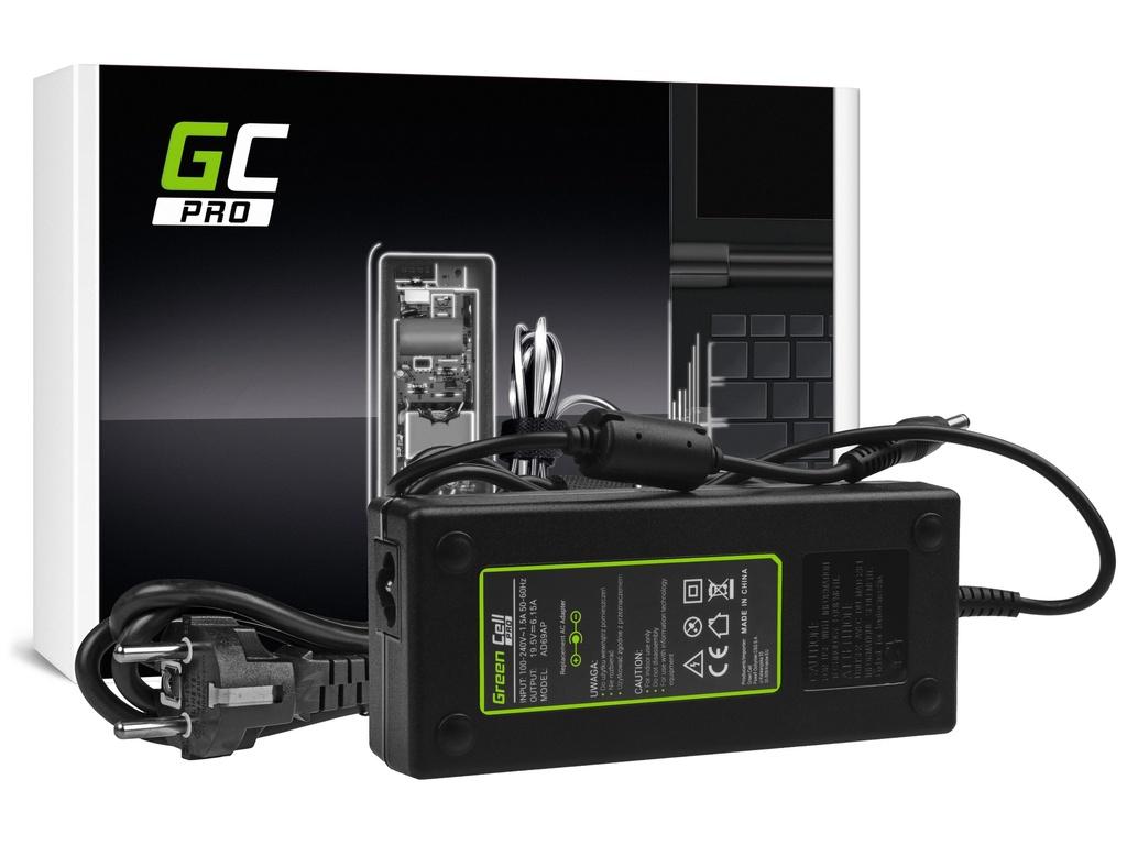 AC adapter za punjač Green Cell PRO za Lenovo IdeaPad I510p I550p I560 I570 I580 Z500 Z570 MSI GE60 GE70 GP 19,5V 6,15A 120V
