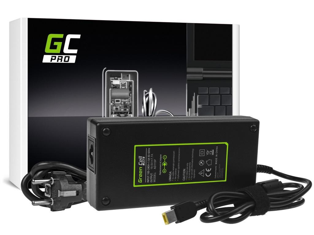 AC adapter za punjač Green Cell PRO za Lenovo Ideacentre 310-15ASR 310S-08ASR 520-27IKL 910-27ISH A540 A740 19,5V 7,7A 150V