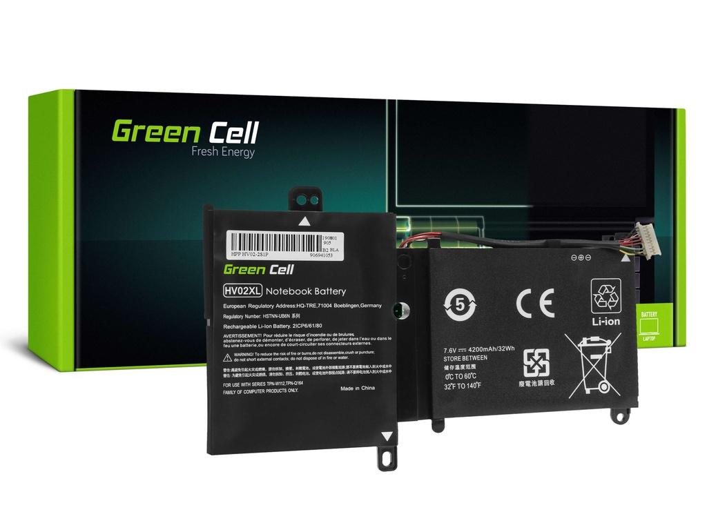 Baterija Green Cell HV02XL za HP Pavilion k360 11-K 11-K002NV 11-K102NV, HP Spectre 13-4000 13-4000NV 13-4100NV