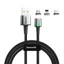 Baseus Zinc lightning + USB Type C + micro USB Data kabl 2A 2m magnetni kabl