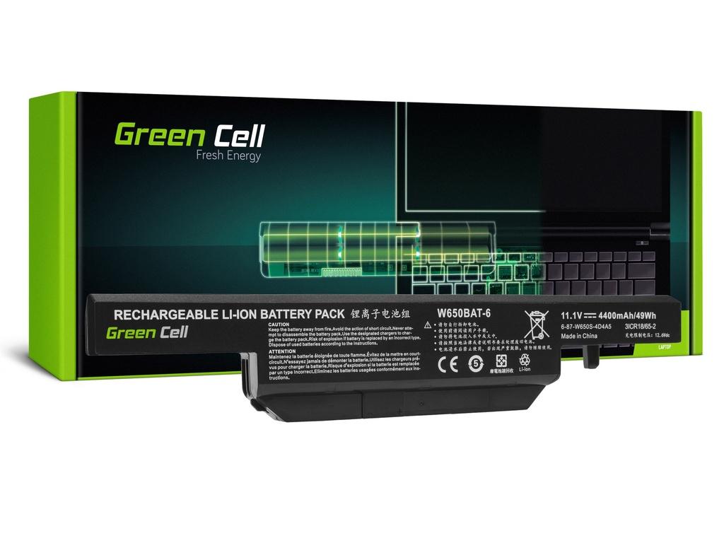 Baterija Green Cell za Clevo V650 V670 / 11,1V 4000mAh