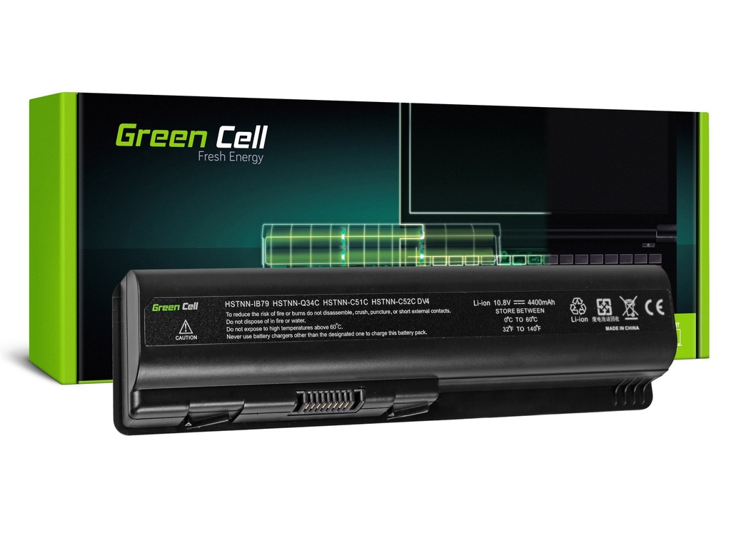 Baterija Green Cell za HP DV4 DV5 DV6 CQ60 CQ70 G50 G70 / 11,1V 4400mAh